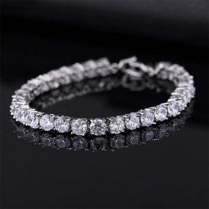 bracelet mariée zircon cubique