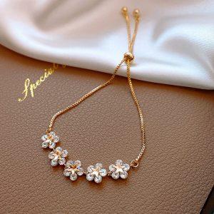 bracelet mariage fleur