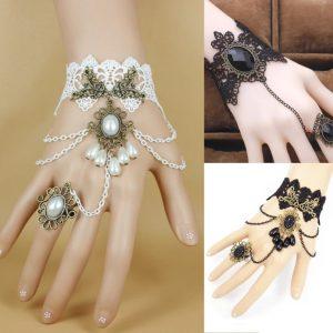 bracelet mariée dentelle
