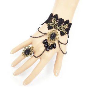 bracelet mariée dentelle noir