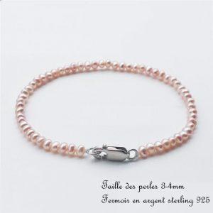 bracelet mariage perle rose