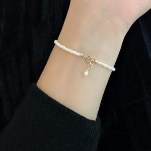 bracelet mariage perle blanc