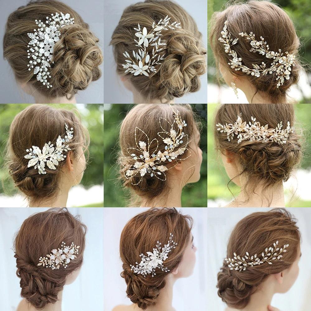 Elégants bijoux de tête pour mariage | idéal pour agrémenter un chignon