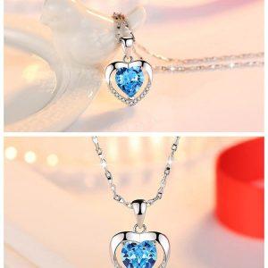collier mariage bleu