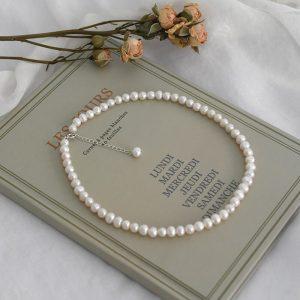 collier de mariage en perle