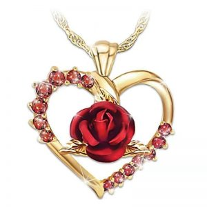 collier mariage rouge