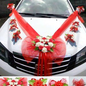 deco de voiture mariage rouge