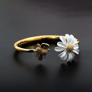 bracelet de mariee en fleur - bracelet