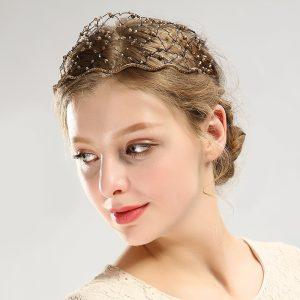 Diademe mariage cheveux courts